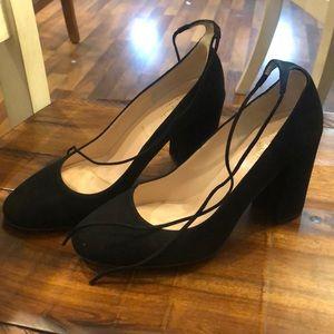 Kate Spade sz 7.5 Mary Jane black suede heels